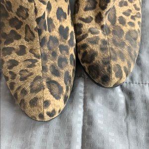 Sam & Libby Shoes - Sam & Libby Cheetah Print Heeled Ankle Booties 9
